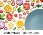 creative layout of sliced... | Shutterstock . vector #1007210329