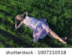 beautiful sexy girl relax on... | Shutterstock . vector #1007210518