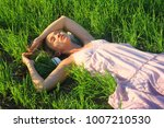 beautiful sexy girl relax on... | Shutterstock . vector #1007210530