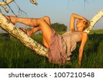 beautiful sexy girl relax on... | Shutterstock . vector #1007210548