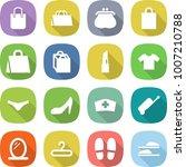 flat vector icon set   shopping ... | Shutterstock .eps vector #1007210788