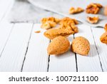 hard shell stone fruits on... | Shutterstock . vector #1007211100