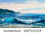 morning on sea  wave ... | Shutterstock . vector #1007211319