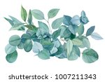 green bouquet  branches and... | Shutterstock . vector #1007211343
