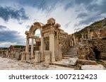 the temple of hadrian in... | Shutterstock . vector #1007212423