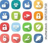 flat vector icon set   unlock...   Shutterstock .eps vector #1007213710