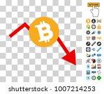 bitcoin recession chart icon... | Shutterstock .eps vector #1007214253