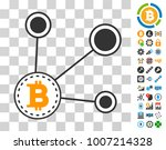 bitcoin node connect icon with... | Shutterstock .eps vector #1007214328