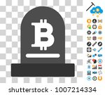 bitcoin monument pictograph...