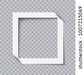 white photo frame minimalistic... | Shutterstock .eps vector #1007215069