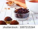 herbal tea  brown sugar ... | Shutterstock . vector #1007215264