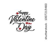 happy valentine's day card... | Shutterstock .eps vector #1007215483