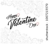 happy valentine's day card with ... | Shutterstock .eps vector #1007215570