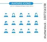 avatars icon set   Shutterstock .eps vector #1007216158