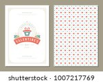 happy valentines day greeting... | Shutterstock .eps vector #1007217769
