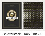 happy valentines day greeting... | Shutterstock .eps vector #1007218528