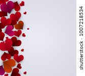 abstract red lovely hearts... | Shutterstock . vector #1007218534