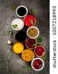 set of different sauces  ... | Shutterstock . vector #1007218993