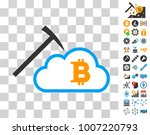 bitcoin cloud mining icon with...