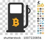 bitcoin gas station pictograph...