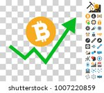 bitcoin grow up trend icon with ...