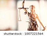 justice blindfolded lady... | Shutterstock . vector #1007221564
