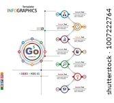 infographics business template... | Shutterstock .eps vector #1007222764