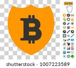 bitcoin shield pictograph with...