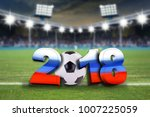 soccer background 2018 with... | Shutterstock . vector #1007225059