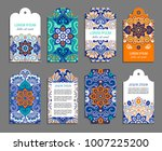 indian badge set with bright... | Shutterstock .eps vector #1007225200