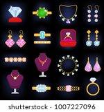 jewelry vector jewellery gold...   Shutterstock .eps vector #1007227096
