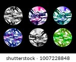 watercolor elements on a black... | Shutterstock . vector #1007228848