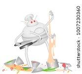 vector illustration of a robot... | Shutterstock .eps vector #1007230360