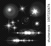 glowing lights  stars and...   Shutterstock .eps vector #1007232676