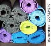 close up colorful yoga mat... | Shutterstock . vector #1007234140