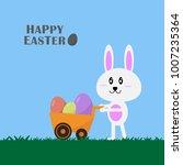 happy easter spring festival... | Shutterstock .eps vector #1007235364