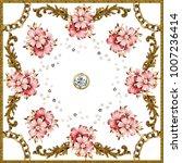 silk scarf design  fashion... | Shutterstock . vector #1007236414