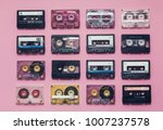collection of retro audio tapes ...   Shutterstock . vector #1007237578