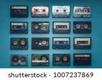 collection of retro audio tapes ... | Shutterstock . vector #1007237869