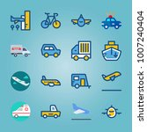 icon set about transport. with... | Shutterstock .eps vector #1007240404