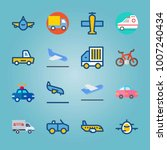 icon set about transport. with... | Shutterstock .eps vector #1007240434