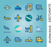 icon set about transport. with... | Shutterstock .eps vector #1007240470