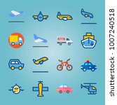 icon set about transport. with... | Shutterstock .eps vector #1007240518
