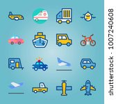 icon set about transport. with...   Shutterstock .eps vector #1007240608