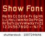 show font golden symbol  gold... | Shutterstock .eps vector #1007244646