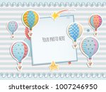 holiday card design with... | Shutterstock .eps vector #1007246950