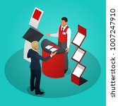isometric promotional stands or ... | Shutterstock .eps vector #1007247910