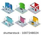 isometric set of promotional... | Shutterstock .eps vector #1007248024
