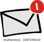 mail notice icon | Shutterstock .eps vector #1007248210