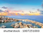 beautiful view of the kyrenia... | Shutterstock . vector #1007251003